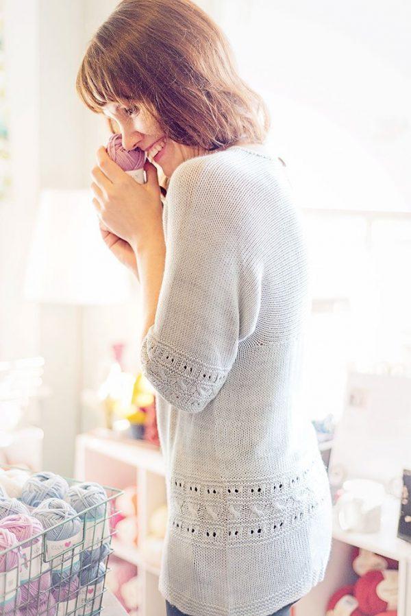 grecian elegance knit sweater side view