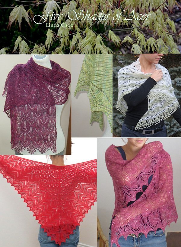shades of acer shawls by linda choo