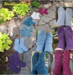 woodland path socks by linda choo