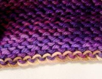bias hat provisional cast on back