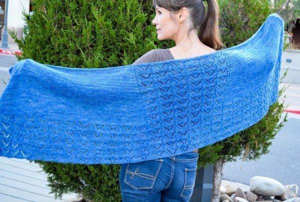 modern faroese shawl open
