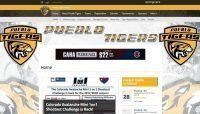 pueblo tigers hockey website design