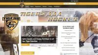 tigers aaa hockey website design