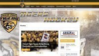 tigers hockey website design